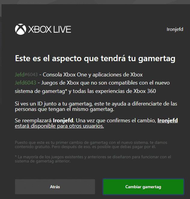 Cómo cambiar el gamertag de Xbox